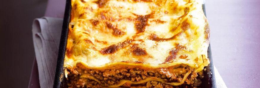 lasagnes avec des abats